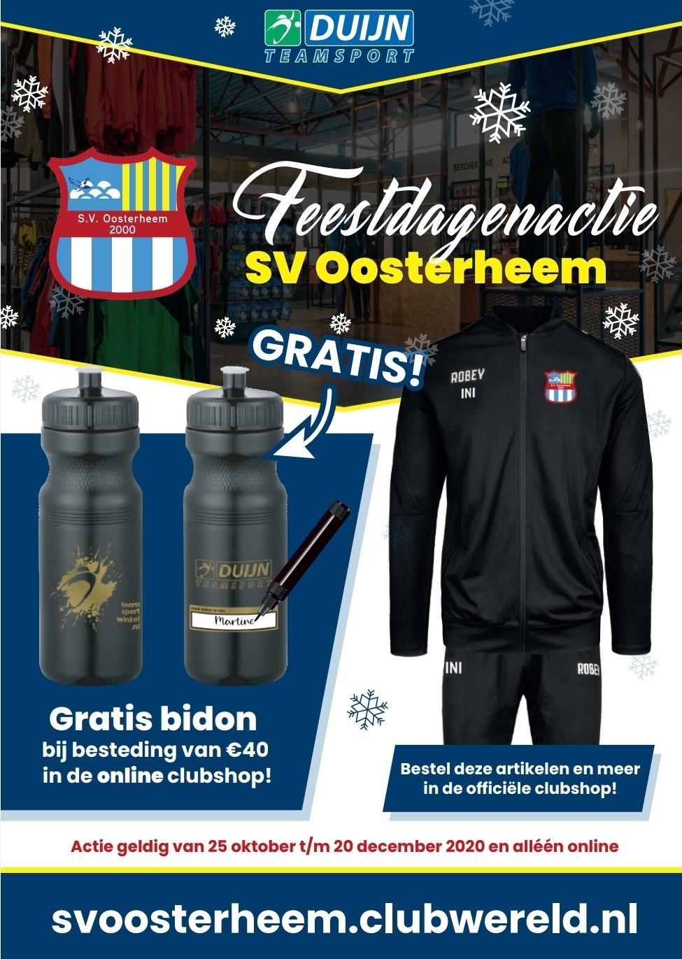 Feestdagenactie 2020 Duijn Teamsport en SV Oosterheem